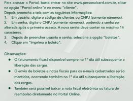 Portal do Cliente facilita emissão de boletos