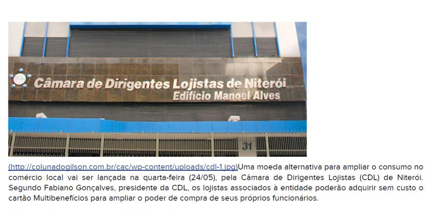 CDL Niterói lança nova moeda