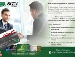 Parceria Sindipetróleo e Personal Card